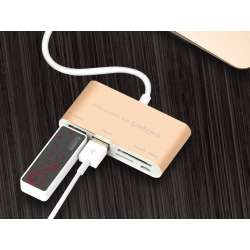 5 in 1 USB Type C HUB OTG Card Reader, USB C Hub OTG Multi USB 3.0 Splitter