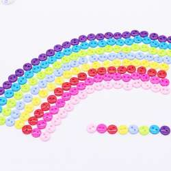 lot 50 Boutons rond 9mm 2 trou Multicolore Scrapbooking Mercerie