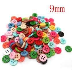 lot de 50 bouton 9 mm 4 trou unis multi-couleurs mercerie couture scrapbooking
